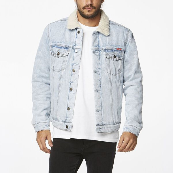Denim Sherpa Jacket Silver Blues, Silver Blues, hi-res