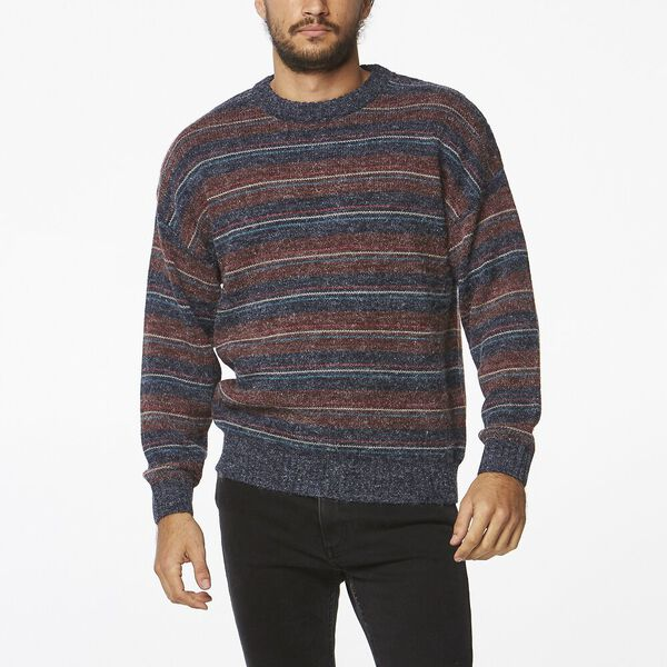 Reactions Sweater Navy Stripe, Navy Stripe, hi-res